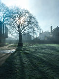 Shadow of the day. Photo took from the university of Gloucestershire as that day was a foggy day Stock Photography