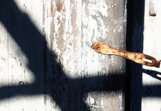 Shadow on door Royalty Free Stock Images