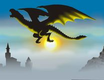 Shadow dragon Royalty Free Stock Photo