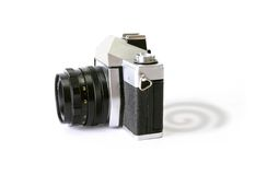 Shadow Of Dreamstime. A camera with Dreamstime logo as its shadow Stock Image