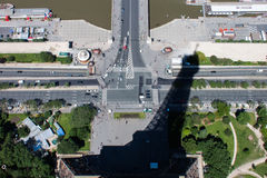 The Shadow of the Eiffel Tower Royalty Free Stock Photography