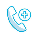 Shadow emergency call cartoon. Shadow emergency blue phone call cartoon vector graphic design Stock Photography