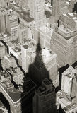 Shadow of empire state building. Photo of a Shadow, empire state building Stock Image