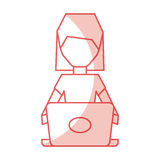 Shadow faceless cartoon. Shadow pink pc faceless cartoon vector graphic design Stock Photos