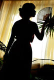 Shadow-figure of oriental woman Royalty Free Stock Photography