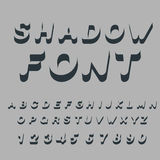 Shadow font. Set of letters of drop shadow. 3D letters of alphab Stock Photos