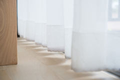 Free Shadow From Shining Through A Window And The Curtains Stock Photography - 45328042