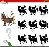 Shadow game activity with farm animals Stock Image