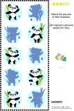 Shadow game - panda bears Stock Photos