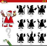 Shadow game with santa claus Stock Photography
