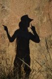 Shadow girl Stock Photography