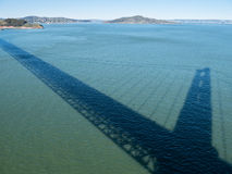 Shadow, Golden Gate Bridge Stock Photo