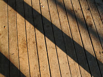 Shadow on grounge wood Royalty Free Stock Photo
