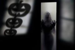 Shadow of Halloween pumpkin Royalty Free Stock Photography