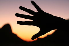 Shadow hand Royalty Free Stock Images