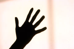 Shadow of hand Royalty Free Stock Photo