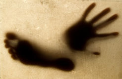 Shadow of the hand and foot Royalty Free Stock Photo