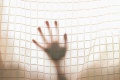 Shadow hand outside Stock Photo