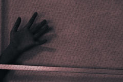 Shadow hand outside Royalty Free Stock Image
