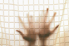 Shadow hand outside Royalty Free Stock Photos