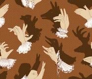 Shadow hand puppets, vector vector illustration