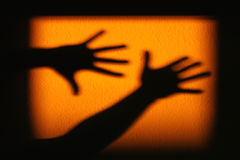 Shadow of hands royalty free stock photos