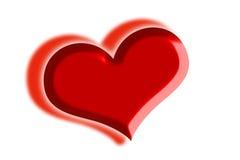 Shadow heart Stock Photo