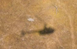 Shadow of a helicopter flying stock photos