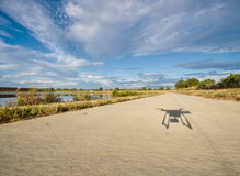 Shadow of hexacopter drone flying Stock Photos