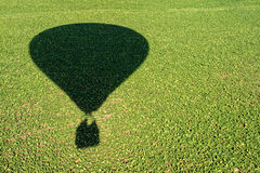 Shadow of an hot air balloon Royalty Free Stock Photo