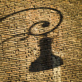 Shadow of Italian street lamps Royalty Free Stock Photography