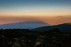 The shadow of Kilimanjaro Royalty Free Stock Photo