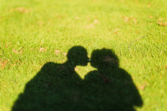 Shadow of a kiss Royalty Free Stock Photos