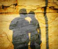 Shadow of a kiss Royalty Free Stock Images