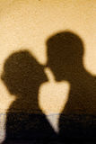 Shadow of a kiss Royalty Free Stock Photo
