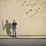 Shadow Knight Royalty Free Stock Photography