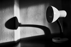 The shadow of the lamp Royalty Free Stock Images