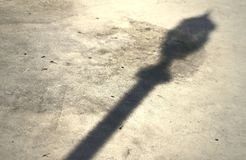 Shadow of a lamp post Royalty Free Stock Images