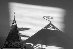 Shadow of a lamp shade Stock Image