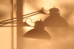 Shadow of lamps stock photos