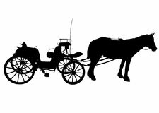 Shadow of a large carriage. Vector illustration of a hitch, file eps 10 Stock Illustration