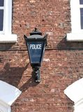 In the shadow of the Law. Nice detail on Brickwork of this impressive English Victorian Police Station Royalty Free Stock Photo