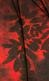Shadow leaves on plastic Stock Photography
