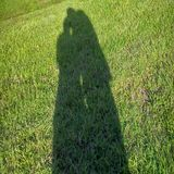 The Shadow Of 2 Lover& x27;s royalty free stock photo