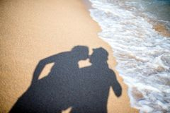 A shadow of lovers Royalty Free Stock Photography