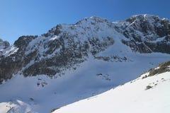 Shadow in Mala Studena dolina valley, High Tatras Royalty Free Stock Image