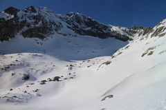 Shadow in Mala Studena dolina valley, High Tatras Royalty Free Stock Images