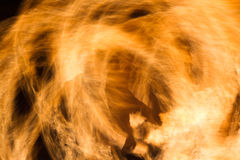 Shadow of a man on fire. Shadow of a man on abstract yellow firestorm Stock Photos