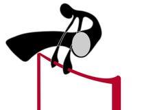 Shadow man gymnastic on bar Royalty Free Stock Image