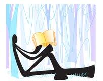 Shadow man reading Royalty Free Stock Photography